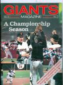 1987 Giants Program Scorecard Championship Edition
