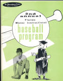 1960 2nd Annual Florida Winter Instructional baseball program