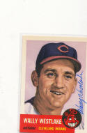 Signed 1953 Topps 1991 Archives card 182 Wally Westlake Indians 192