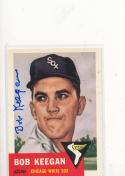 Signed 1953 Topps 1991 Archives card Bob Keegan White Sox