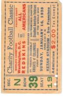 1938 washington redskins all americans football ticket