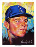 1969 Los Angeles Dodgers Union oil set 13 cards Don Drysdale