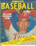 1953 September Complete Baseball magazine Curt Simmons
