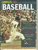 1961 Complete Baseball magazine Bill Maseroski  Pirates
