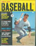1962 Complete Baseball magazine Mickey Mantle Yankees