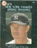 1975 New York Yankees Spring Training Program