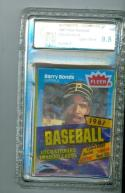 Barry Bonds 1987 fleer gai 9.5 cello unopen baseball pack