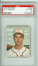 1950 Bowman #252 Billy Demars psa 6 St. Louis Browns