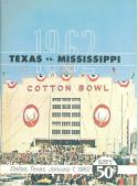 1962 Cotton Bowl Texas Mississippi football program  nrmt