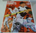 1971 Giants Promotional poster em-nm