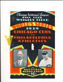 1929 world series program & envelope em/nm cubs edition!