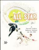 1958 All Star Program near mint baltimore  6.14