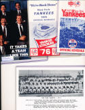 27 New york Yankees 1974 - 1996 different Pocket Schedules