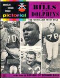 1966 9/18 Buffalo Bills Vs Miami Dolphins  AFL Football program stain on back
