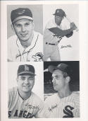 1962 Exhibit Card Proof Sheet Brooks Robinson Maurice Wills, Ken McBride, herber
