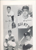 1962 Exhibit Card Proof Sheet featuring Earl Battery, Tom cheney Harvey Kuenn