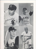 1962 Exhibit Card Proof Sheet Joe Cunningham bill O dell, Bill Mazeroski ,  Neal