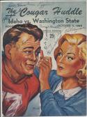 Idaho Washington State Signed 10/5 1946 football program 16 signatures