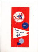New York Yankees 1957 Press TV Guide