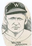 1916-27 Sporting News Walter Johnson Original Artwork