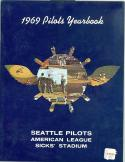 1969 Seatle Pilots Yearbook nm with price tag put on it