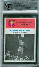 1961 Fleer Elgin Baylor gai 8 nm