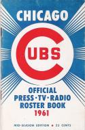 Chicago Cubs 1961 Roster Guide nm