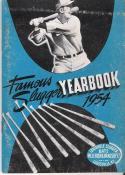 Famous Slugger Yearbook 1954 - ex-em