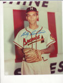 Billy Bruton Milwaukee  Braves Signed 8x10 color photo d 1995