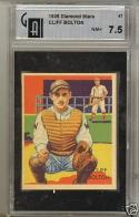 1935 Diamond Stars Cliff Bolton GAI 7.5 near mint