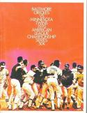 1970 ALCS Twins Orioles NM Program unscored