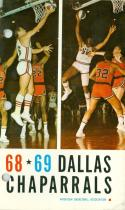 1968-1969 Dallas Chaparrals ABA Press Guide em binder punch