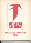 1970 Atlanta Falcons preseason prospectus guide