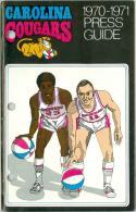 Carolina Cougars 1970-71  ABA press guide