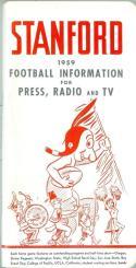 1959 Stanford  Football Press Media Guide em/nm CFBmg19