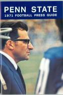 1971 Penn State  press guide media football em/nm
