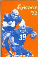 1972 Syracuse University  press guide media football em/nm