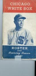 1947 Chicago White Sox Spring Training Roster guide