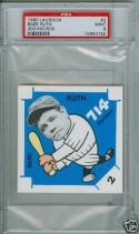 1980 Lauglin Babe Ruth Yankees psa 9