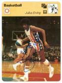 Julius Erving Nets Signed 1977 Sportscaster card