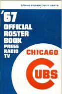 Chicago Cubs Roster Press Guide nm  1967 spring edition