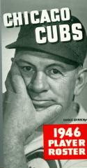 Chicago Cubs Roster Press Guide nm 1946 roster
