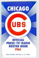 Chicago Cubs Roster Press Guide nm 1961 mid season