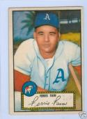 1952 topps 21 Ferris Fain red back ex