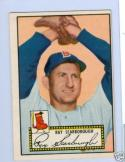 1952 topps Ray Scarborough 43 black back ex
