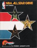 1975 NBA All-Star basketball Program  Phoenix em-nm
