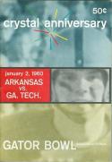 1/2 1960 Arkansas vs Georgia Tech Gator Bowl Football Program em/nm  f10