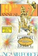12/ 28 1963 UNC vs Air Force Gator Bowl Football Program em/nm