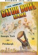 12/29 1956 Georgia Tech vs Pittsburgh Gator Bowl Football Program em/nm  f10