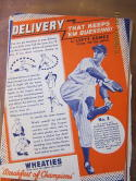 1939 Wheaties Set of 9 cards Jimmy Foxx Hank Greenberg